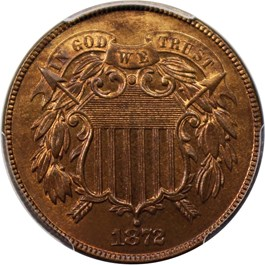 Image of 1872 2c PCGS/CAC Proof 65 RB