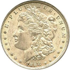 Image of 1888-O $1 PCGS/CAC AU58 (VAM-17, Oval O)