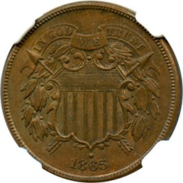 Image of 1865 2c NGC/CAC MS64 BN