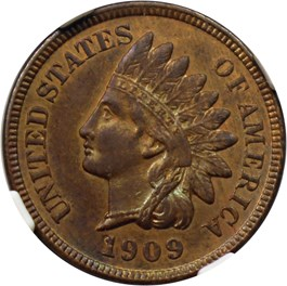 Image of 1909-S Indian 1c NGC/CAC AU58 BN