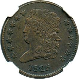 Image of 1825 1/2c NGC XF45 BN
