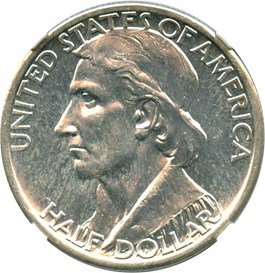 Image of 1935-S Boone 50c NGC MS64 PL