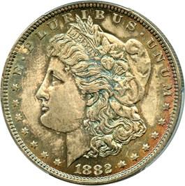 Image of 1882 $1 PCGS/CAC MS66+