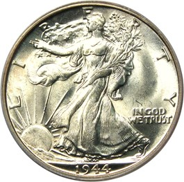 Image of 1944-D 50c PCGS MS66 (Hand Engraved Initials, FS-901)