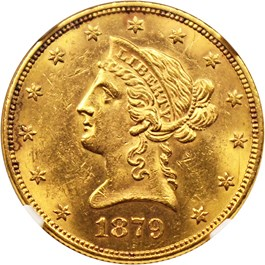 Image of 1879 $10 NGC MS62