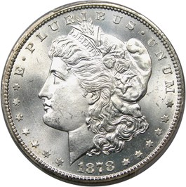 Image of 1878-CC $1 PCGS MS66+