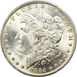 Image of 1884-O $1 PCGS/CAC MS65