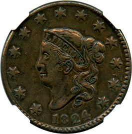 Image of 1824 1c NGC VF35 BN