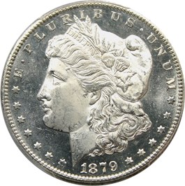 Image of 1879-CC $1 PCGS Secure MS64 PL
