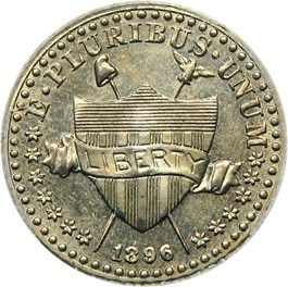 Image of 1896 Pattern 1c PCGS/CAC Proof 65 (J-1767, OGH Rattler Holder)