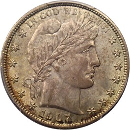 Image of 1907 50c PCGS/CAC MS64+
