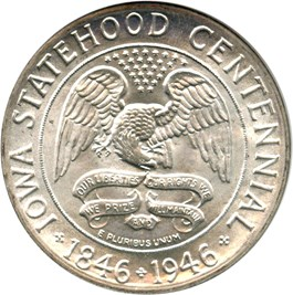 Image of 1946 Iowa 50c NGC/CAC MS67