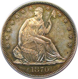 Image of 1870 50c PCGS Proof 64 - No Reserve!