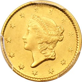 Image of 1851 G$1 PCGS MS62