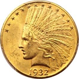 Image of 1932 $10 PCGS MS62