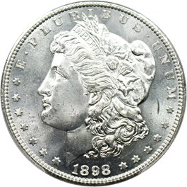 Image of 1898-S $1 PCGS MS66