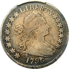 Image of 1796 50c PCGS Genuine VF Details (15 Stars, Repaired)