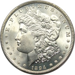 Image of 1894 $1 PCGS MS64