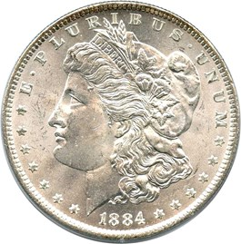 Image of 1884-O $1 PCGS/CAC MS64 (OGH Rattler Holder)