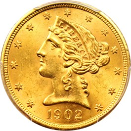Image of 1902-S $5 PCGS MS64+