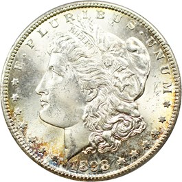 Image of 1898-S $1 PCGS/CAC MS64 (OGH Rattler Holder)