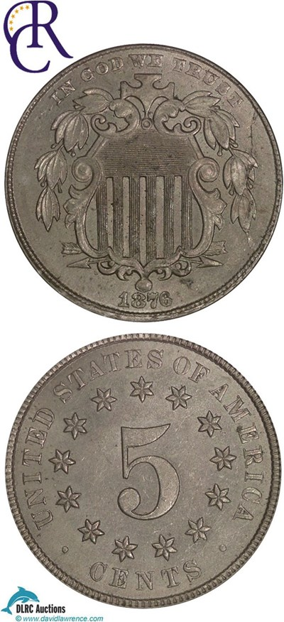 Image of 1876 5c  NGC MS63  ex: Richmond Collection